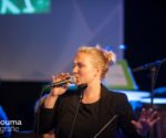 Coverband 'Njiske' samen met brassband Greidebrass